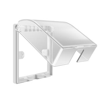 Uniwersalny 86 typ gniazdo ścienne wodoodporne pudełko płyta przełącznik pokrywa ochronna zewnętrzna pokrywa skrzynki Protector tanie i dobre opinie DLPELEC Do montażu na ścianie Lekko błyszczący BJ-FSH-0001
