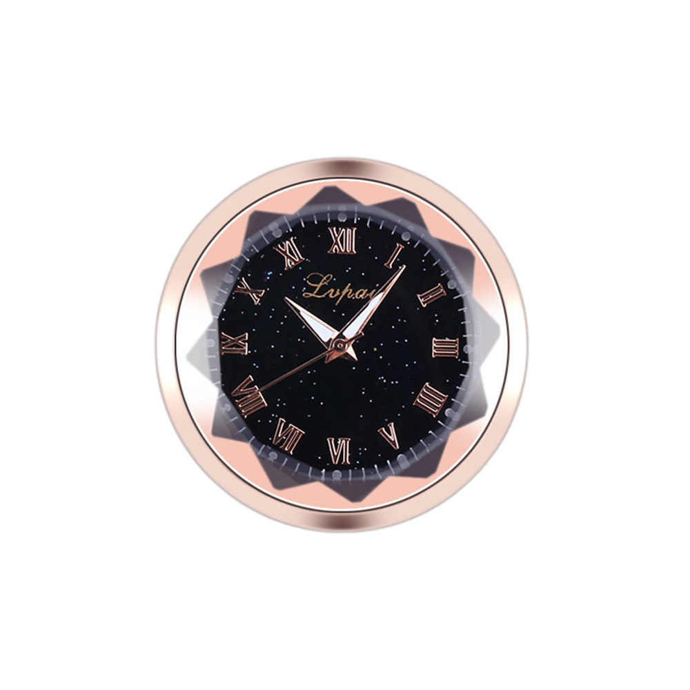 เครื่องประดับรถยานยนต์นาฬิกาอัตโนมัตินาฬิการถยนต์ตกแต่งภายใน Stick-On นาฬิกาเครื่องประดับคริสต์มาสของขวัญ