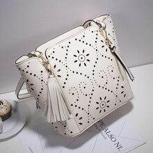 Женская сумка на одно плечо, модная женская сумка-мешок с кисточками