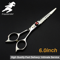 6.0inch hairdressing set Pet scissors Japan 440C Sharp Quick cut hair scissors with advanced screws Adjustable