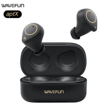 Wavefun aptX Headphones HIFI Bluetooth Earphones IPX7 Waterproof CVC8.0 Wireless Headphones with Mic for Smart watch Smartphones(China)