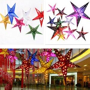 1 Pza 30cm-45cm-60cm brillante estrella papel pantalla faroles fiesta decoración artesanía para boda Navidad Fiesta suministros de decoración