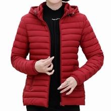 Woman Winter Parka Lightweight Hooded Puffer Jackets Female Puff Outerwear Red Green Hood Basic Coats Plus Size Parkas Lady