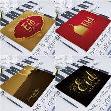 イードムバラク装飾ラマダンの装飾テーブル装飾 42*32 センチメートルテーブルマットパーティーイスラムラマダンカリーム Eid mubarak 装飾