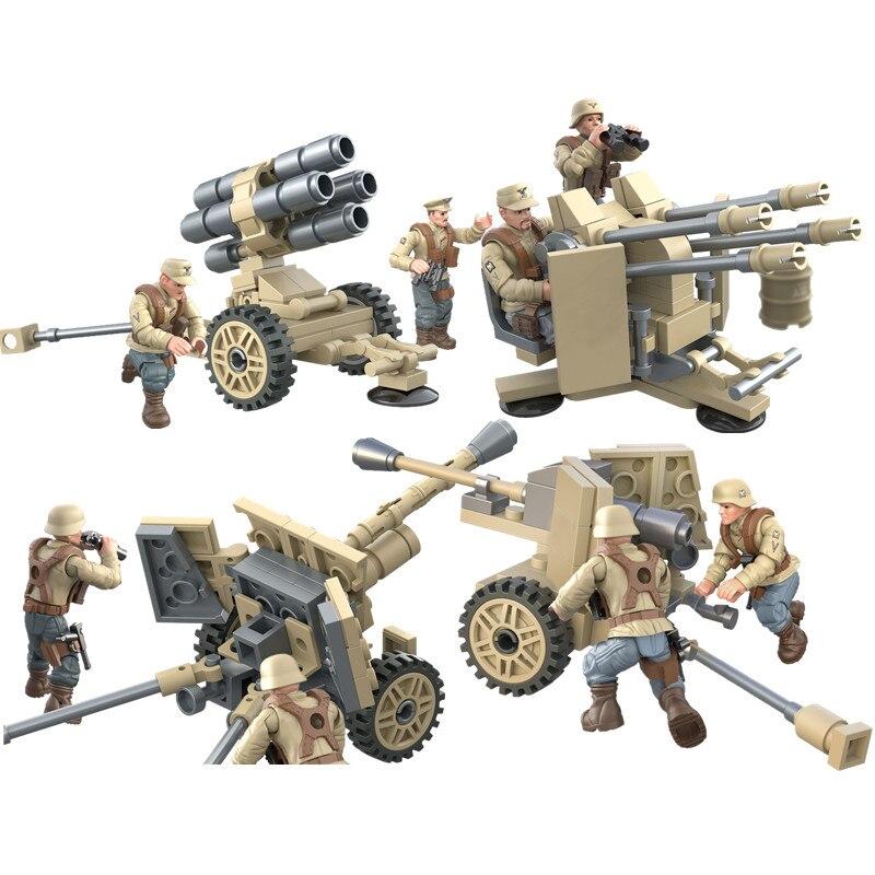 Вторая мировая война 2020, армия, военный солдат, Аксессуары для оружия, фигурки, строительные блоки, кирпичи, сборные игрушки
