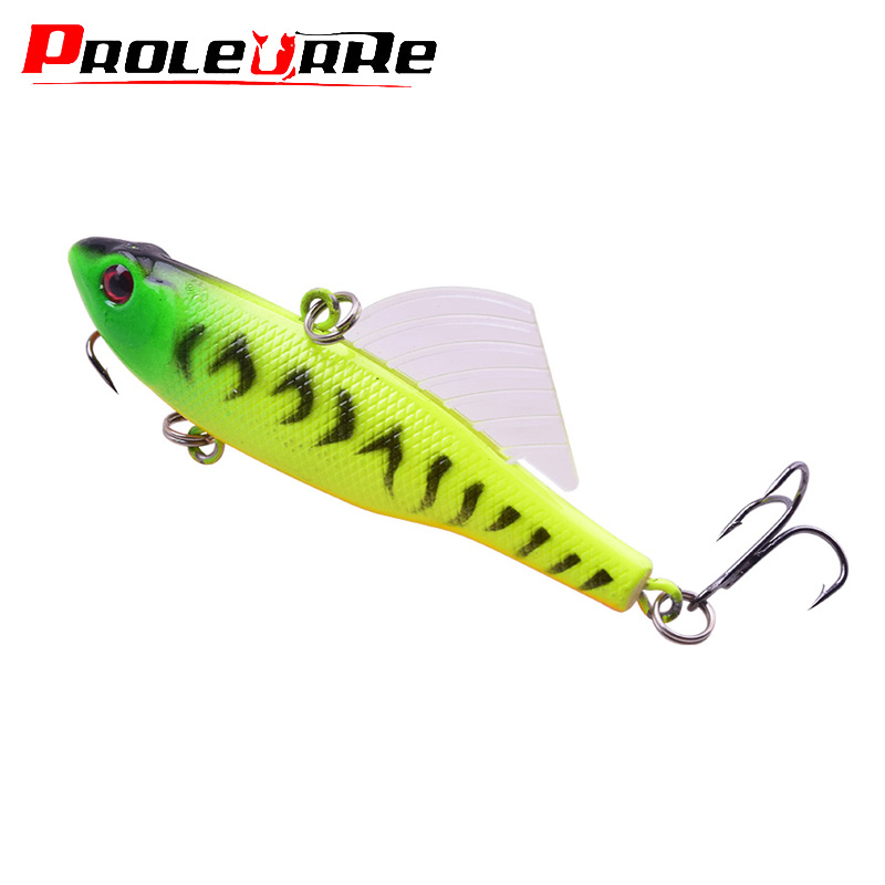 1Pcs VIB Vibration Winter Ice Sea Fishing Lures 70mm 17.5g Trolling Fishing Wobbler Artificial Wing Hard Bait Crankbait Tackle