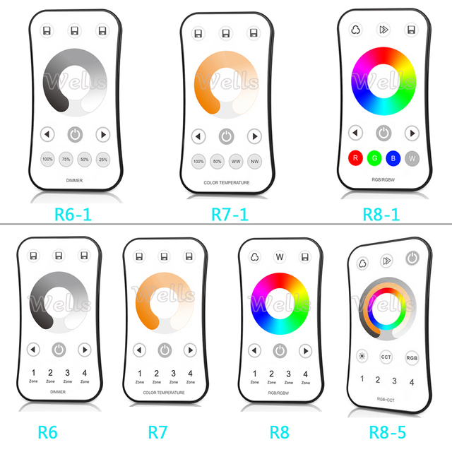 2.4G RF wireless LED Touch Remote Single Color /Color temperature/RGB/RGBW  led Remote dimmer controller