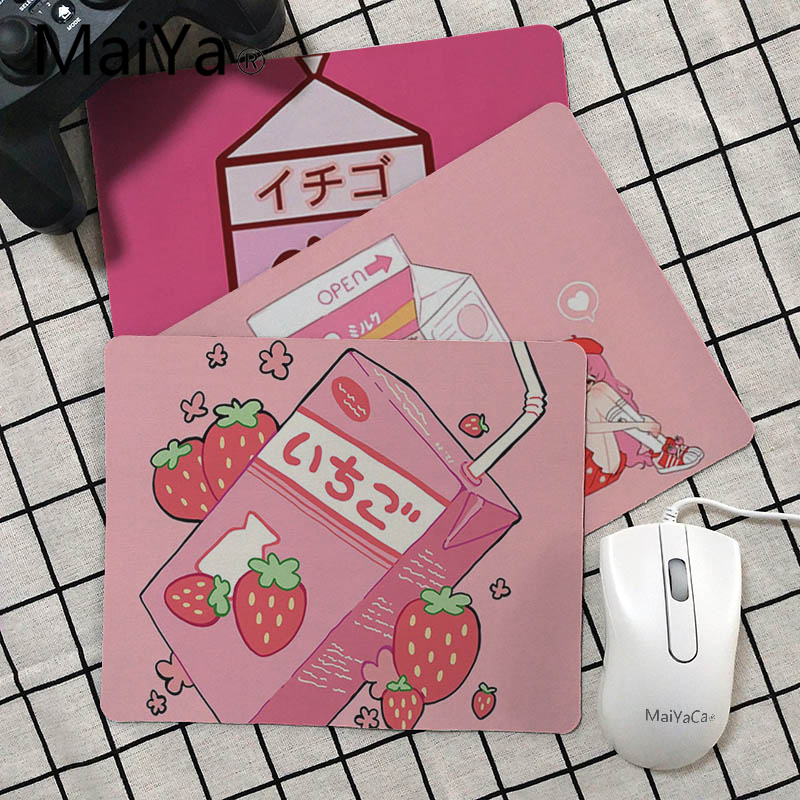 Maiya Top Quality Kawaii Japanese Strawberry Milk Unique Desktop Pad Game Mousepad Top Selling Wholesale Gaming Pad Mouse