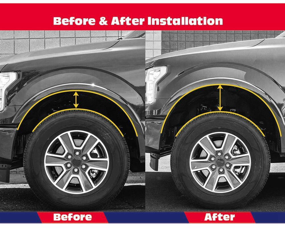 "2009-2018 Ram 1500 4WD Black Alloy Rear 2/"" Leveling Kit"