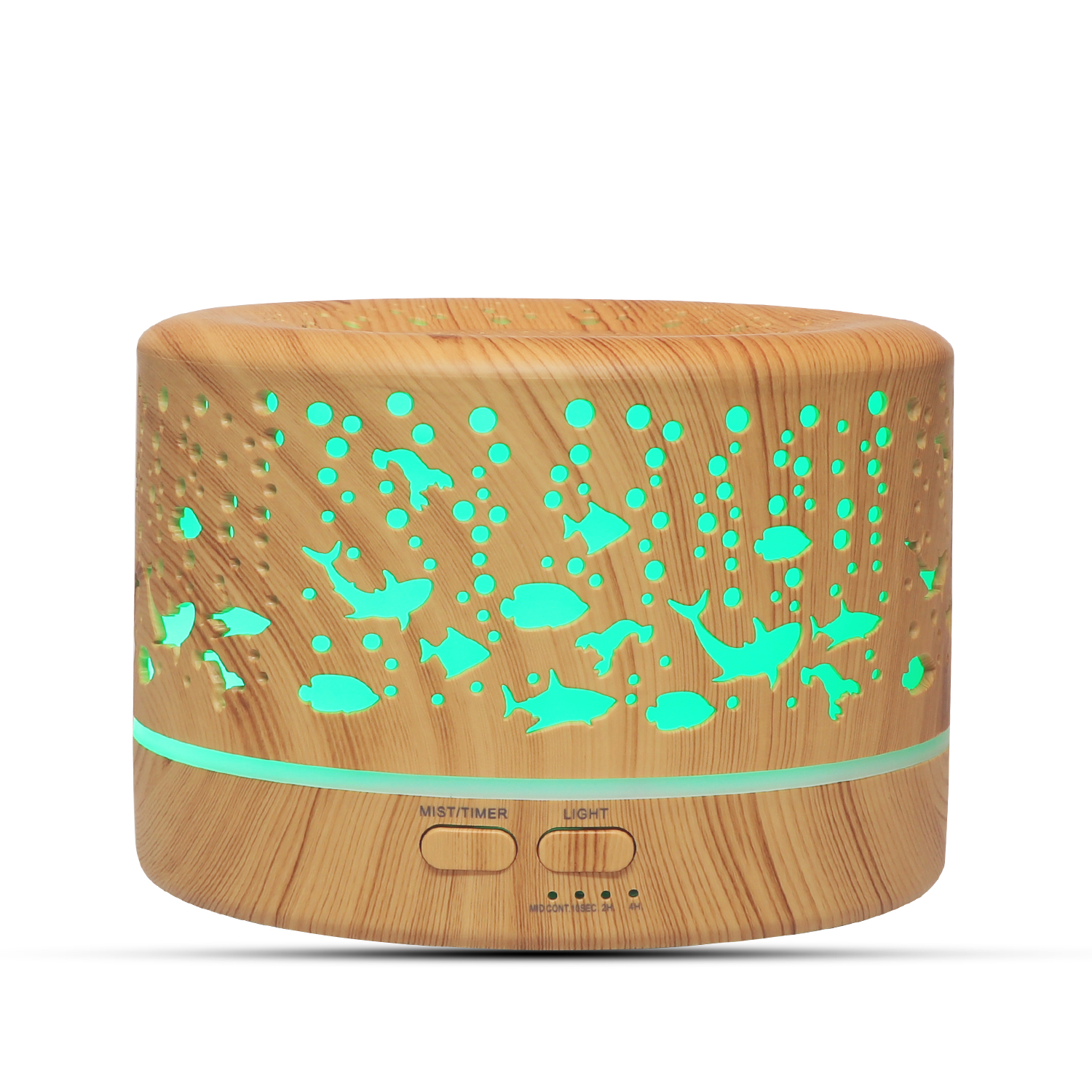 DEKAXI 700ml Wood Grain Aroma Diffuser Aromatherapy Essential Oil Diffuser Ultrasonic Cool Mist Humidifier For Office Home