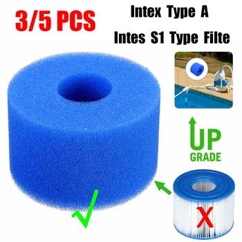 3/5 piezas piscina de espuma de esponja de filtro Intex S1 tipo lavable reutilizable Biofoam limpiador de piscina filtro de espuma de natación Accesorios