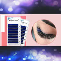 Colorful Eyelash Extension Blue Brown Green Individual Lashes for Beauty Make-up Eyelash Flare Easy Fans CrownLash