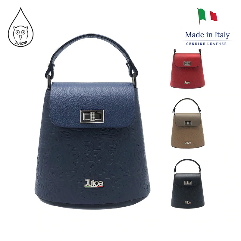 JUICE ,made In Italy, Genuine Leather, Women Bag,Women Handbag,addition Long Shoulder Strap 112183.412