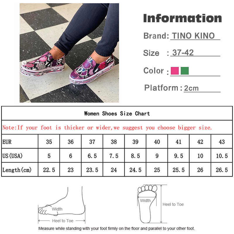 Neue Frauen Schlange Druck PU Leder Turnschuhe Vulkanisierte Schuhe Weibliche Slip Auf Mode Plattform Frau Schuhe Walking Schuhe