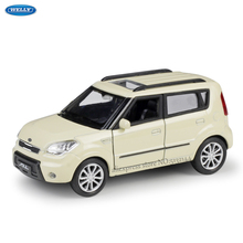WELLY 1:36  KIA Soul simulation alloy car model machine Simulation Collection toy pull-back vehicle недорого
