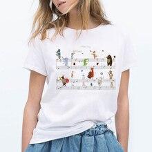Musical note zoo animals print harajuku kawaii tshirt cute summer top woman clot