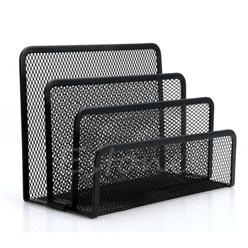 Mesh Letter Sorter Mail Document Tray Desk Office File Holder Organiser Business LX9A column metal mesh document rack file holder letter magazine newspaper tray for home office desk organizer supplies document tray