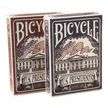 Prezydenci rowerów karty do gry magiczna kategoria karty do pokera do profesjonalnego pokera magiczne karty do gry Deck rekwizyty
