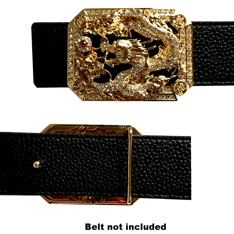 Luxury Traditional Chinese Dragon Icon Buckle For Belt Metal Accessories For Men's Belts