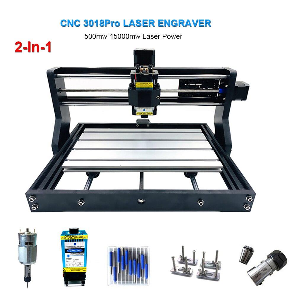3018Pro Laser gravure Machine 3 axes CNC Laser graveur 0.5W-15W puissance coupe bois CNC fraiseuse mini gravure Machines