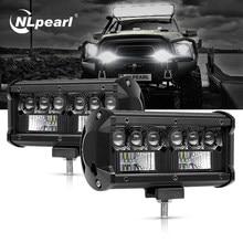 Nlpearl مصباح ليد بار/العمل ضوء عمود إضاءة Led 5D كري الأضواء Led الضباب الخفيف ل الطرق الوعرة جيب 4x4 ATV SUV شاحنة الجرارات 12 فولت 24 فولت