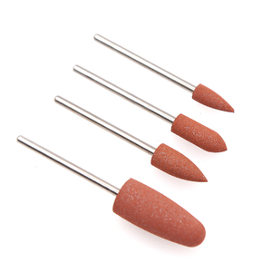 Image 5 - 4PCS Diamond Cutters for Manicure Set Silicon Ceramic Stone Nail Drill Bits Set Rotary Cuticle Burr Milling Cutters for Pedicure