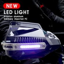 LED Handguard Motocross Dirt Bike Motorcycle Accessories For Kawasaki Z750 Ninja 400 Yamaha Fz6 R3 Suzuki Gsr 600 Ducati Monster