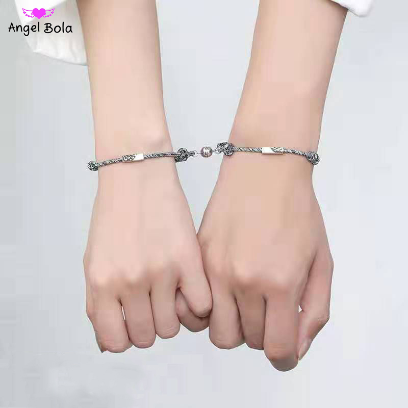 1Pair Lovers Infinity 925 Sterling Silver Bracelets Adjustable Rope Chain Bracelet For Couples Bracelet Birthday Gifts