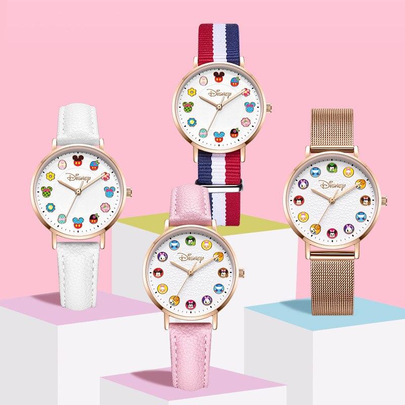 Девочки принцесса красивая часы нержавеющая сталь водонепроницаемый леди наручные часы ребенок мультфильм время детство друг сладкое память часы