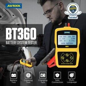 Image 3 - AUTOOL BT360 12V Tester Batteria Auto A Gomito Test Di Carico nalyzer Digital Auto Automotive Diagnostica Batterys Analizzare BT 360
