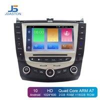 JDASTON Android 10 Car DVD Player For Honda Accord 07 2003 2007 steering wheel 2 Din Car Radio Multimedia Stereo GPS Navigation