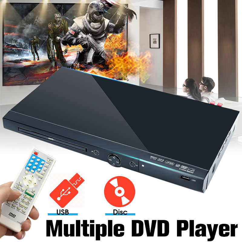LEORY 1080P USB Full HD lecteur DVD région lecture Multiple DIVXs DVD CD RW lecteur LED lecteur d'affichage DVD MP3