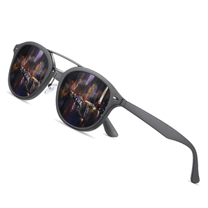 Image 1 - AOFLY Brand Designer Classic Polarized Sun glasses Men Women Ultralight TR90 Frame Round Sunglasses For Male Gafas Oculos De Sol