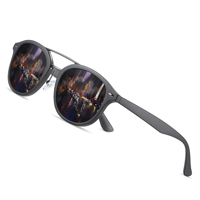 AOFLY Brand Designer Classic Polarized Sun glasses Men Women Ultralight TR90 Frame Round Sunglasses For Male Gafas Oculos De Sol