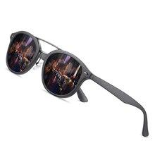 AOFLY العلامة التجارية مصمم الكلاسيكية نظارات شمسية مستقطبة الرجال النساء خفيفة TR90 إطار النظارات الشمسية المستديرة للذكور Gafas Oculos دي سول