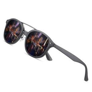 Image 1 - AOFLY العلامة التجارية مصمم الكلاسيكية نظارات شمسية مستقطبة الرجال النساء خفيفة TR90 إطار النظارات الشمسية المستديرة للذكور Gafas Oculos دي سول