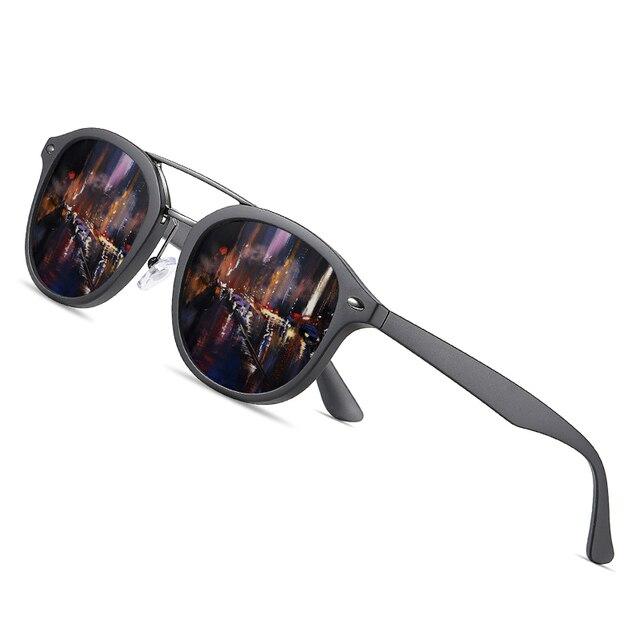 Aofly Merk Designer Klassieke Gepolariseerde Zonnebril Mannen Vrouwen Ultralight TR90 Frame Ronde Zonnebril Voor Mannelijke Gafas Oculos De Sol