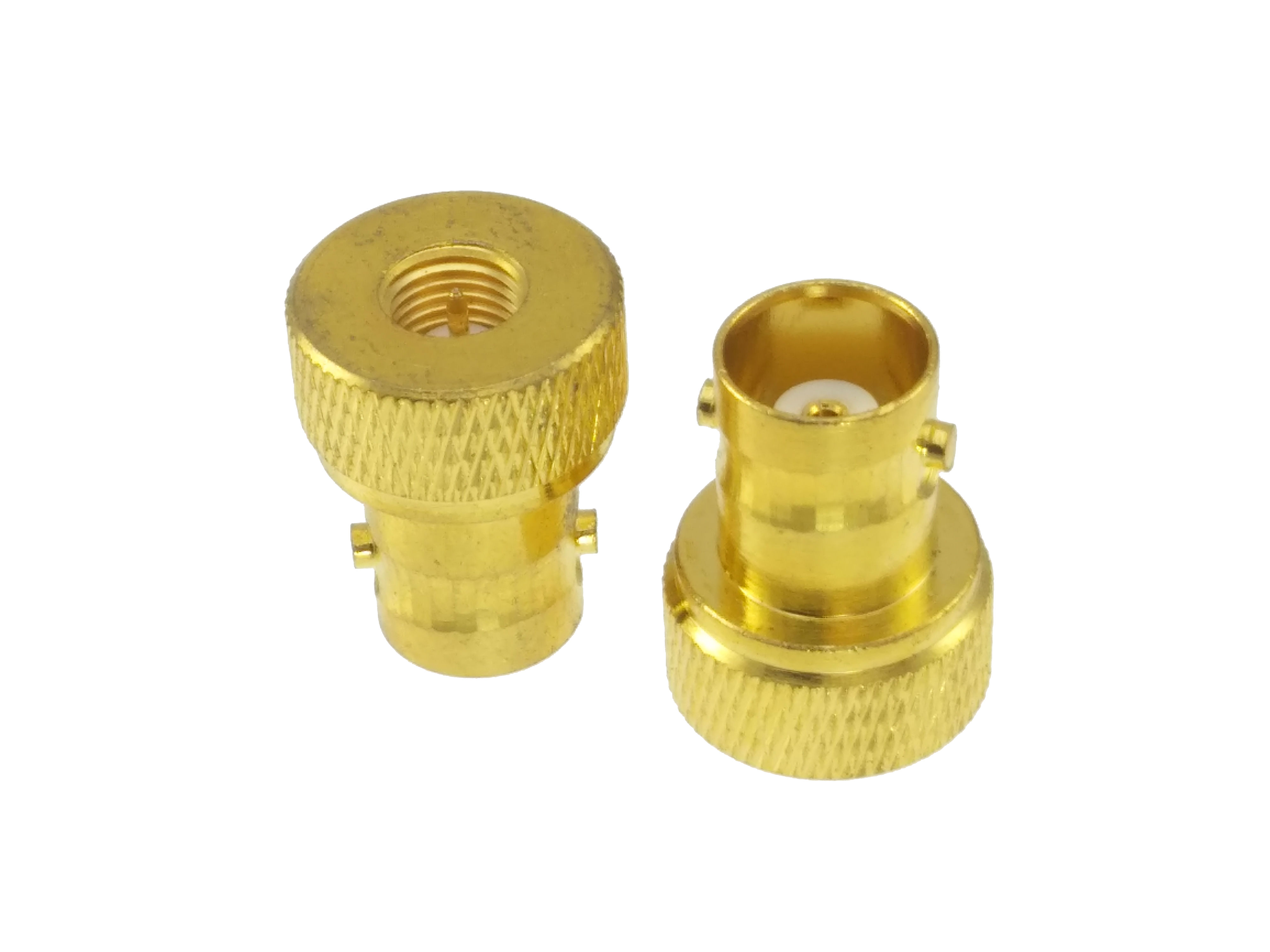 Adapter BNC Female Jack To SMA Male Plug Gold Plated Straight RF COAXIAL
