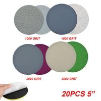 20шт 125 мм влажная Сухая наждачная бумага 1000-3000 зернистость шлифовальная полировка дисков Автомобильный пакет