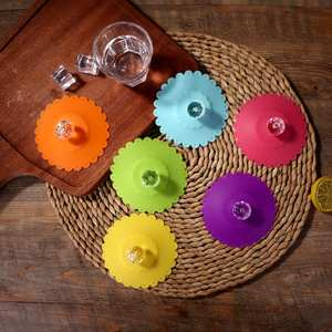 Lid Silicone Bowl Cover Heat-Resistant Glass-Mugs-Cap Seals Water-Drinking-Cup Tea Anti-Dust