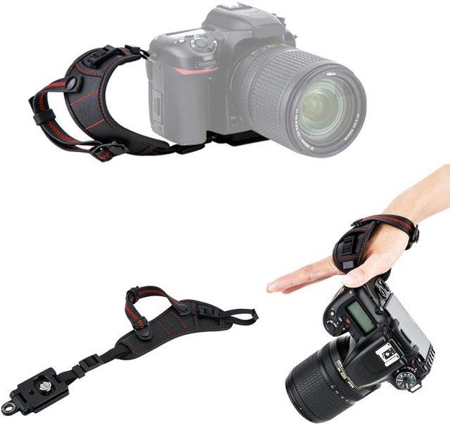 JJC 디럭스 빠른 릴리스 플레이트 카메라 핸드 스트랩 손목 스트랩 니콘 D850 D750 D780 D500 D7500 D7200 D3500 D3400 D5600 D5500