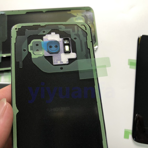 Image 4 - 삼성 갤럭시 s8 g950 g950f g950fd SM G9500 + 방수 접착제에 대 한 s8 원래 배터리 다시 커버 유리 도어 주택 교체