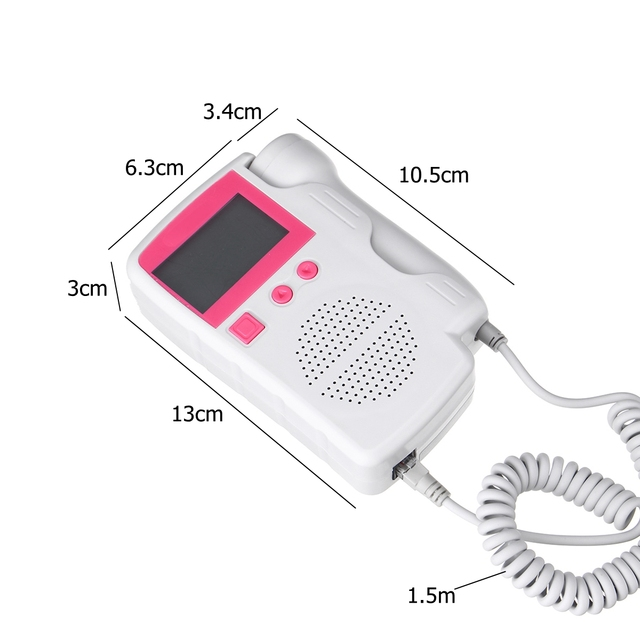 Fetal Doppler monitor Ultrasound Baby Heartbeat Detector Household Health Pregnant Fetal Monitor Portable Pocket Doppler