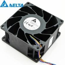 Para delta tfb0812uhe-5h2l dc12v 2.34a servidor quadrado inversor axial refrigerador ventilador de refrigeração 80x80x38mm 80mm ventilador