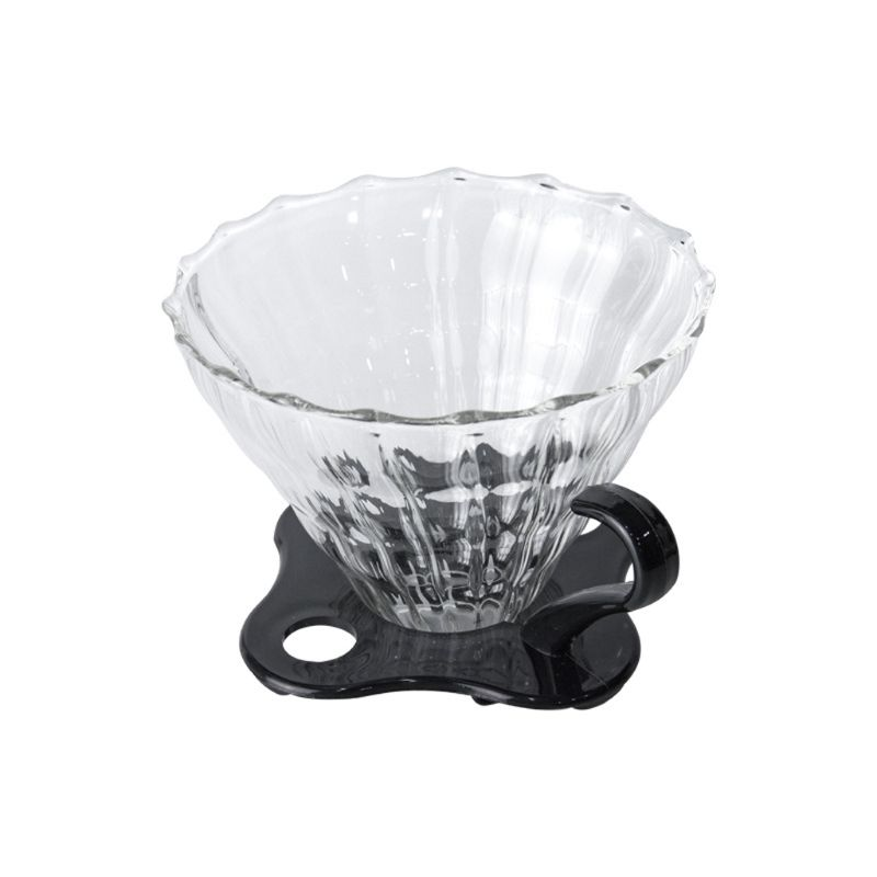 JOYKK Glass Pour Over Coffee Funnel Dripper Clever Coffee Cono Brewer Filter Transparente