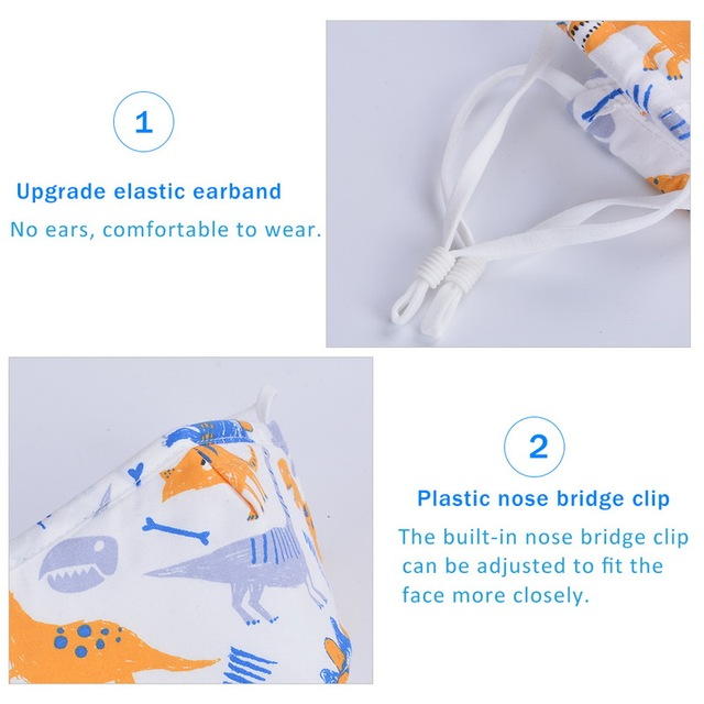 Cute PM2.5 Washable Mouth Mask With Valve Kids Children Anti Haze Dust Mask Nose Filter Face Muffle Bacteria Flu Respirator 3