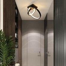 Luces de techo nórdicas para dormitorio, pasillo, balcón, pasillo, entrada, decoración moderna minimalista para el hogar, Lámpara pequeña Interior