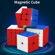 MoYu Meilong M manyetik sürüm 2x2 3x3 4x4 5x5 sihirli küp oyuncak manyetik Cubing sınıf M hız bulmaca oyuncaklar eğitici oyuncak