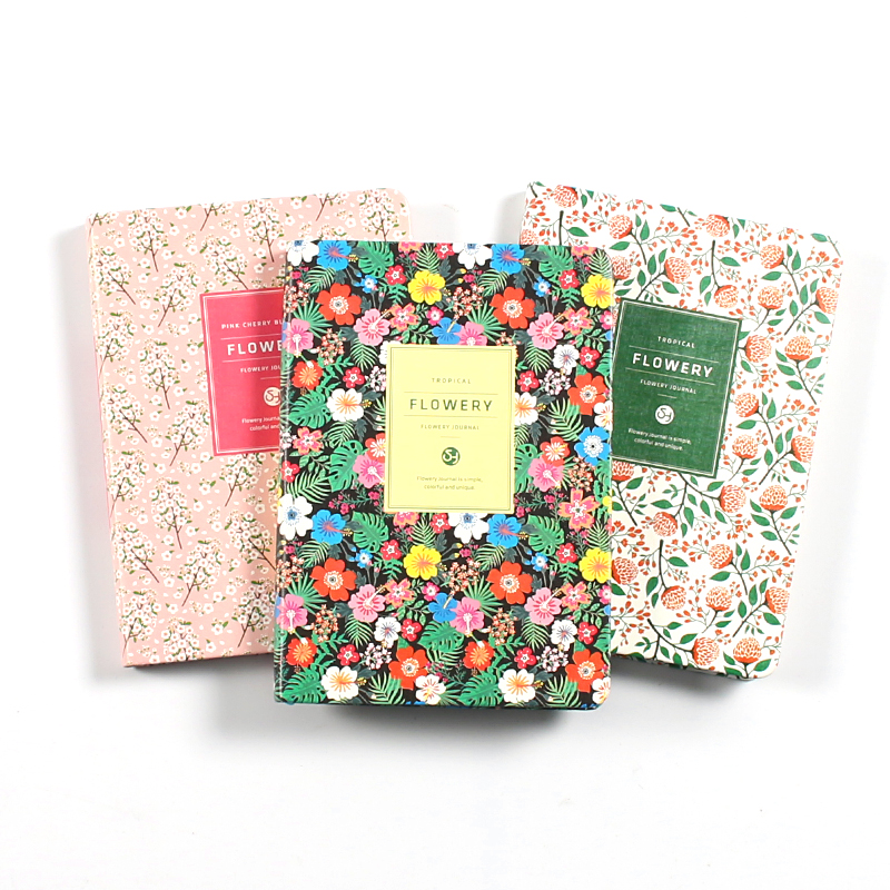 Cute Flowers Leather Notebook Diary Weekly Planner Agenda 2020 Notepad Mini Small Bullet Journal Stationery Filofax Organizer A5(China)