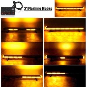 """Image 2 - 41 """"210W LED 12V 24V kamyon araba çakarlı lamba ışıklı çubuk Led Bar yanıp sönen işaret ışığı ışık çatı acil durum uyarı lambaları 21 modları"""